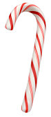 Red and White Candy Cane turned in Profile