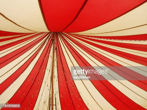 Red and white canopy