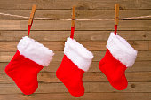 Red and White Classic Christmas Stockings
