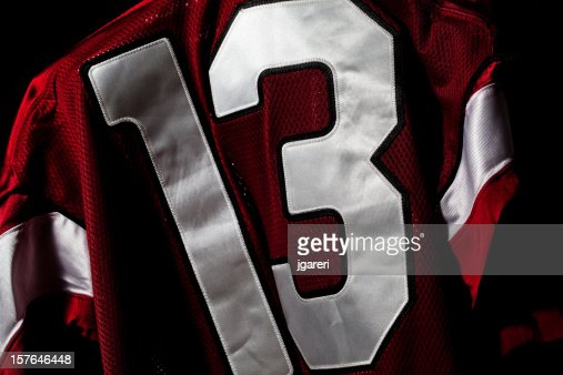Red and white jersey