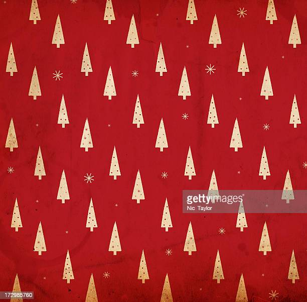 A red and white retro Christmas background