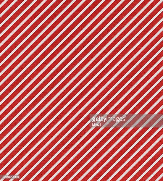 Rote und weiße Streifen Papier