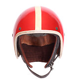 Retro helmet on a white background.