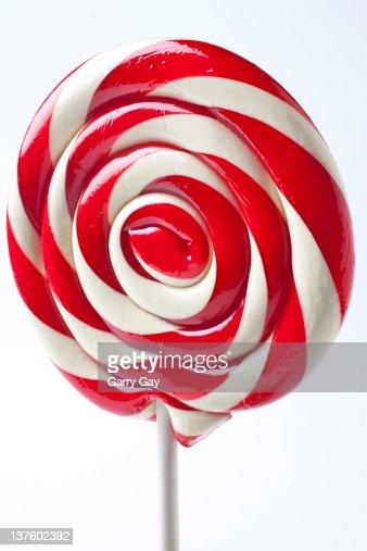 Red and white sucker