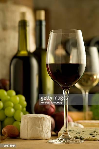 Vermelho e branco Vinho, francês estilo