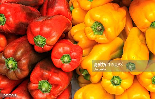 Red and yellow capsicum.