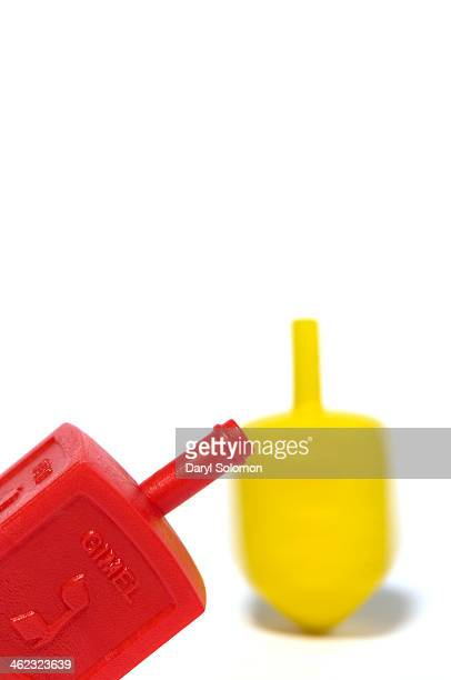 Red and yellow dreidel