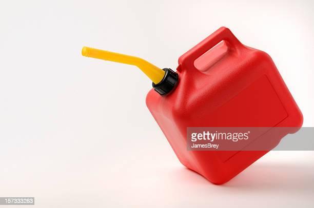 Rosso e giallo Gas Can sollevare il con Clipping Path