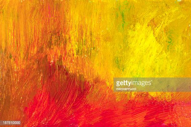 A red and yellow painted abstract background