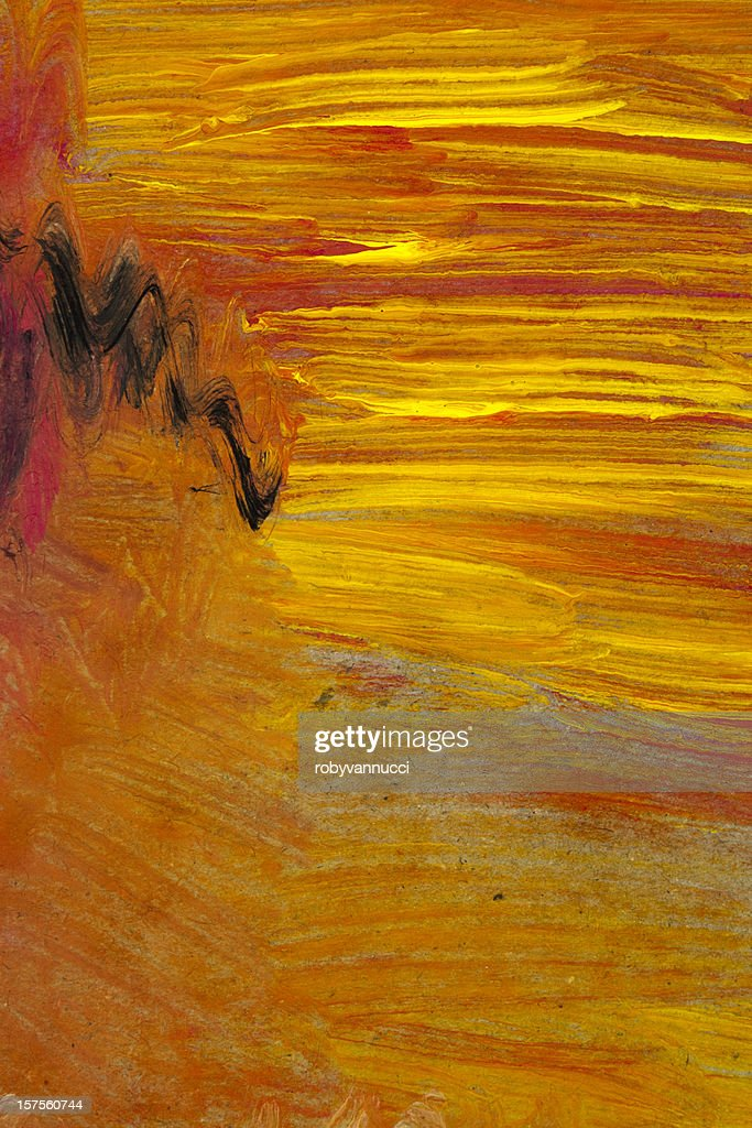 Red and yellow painted abstract background : Stock Photo