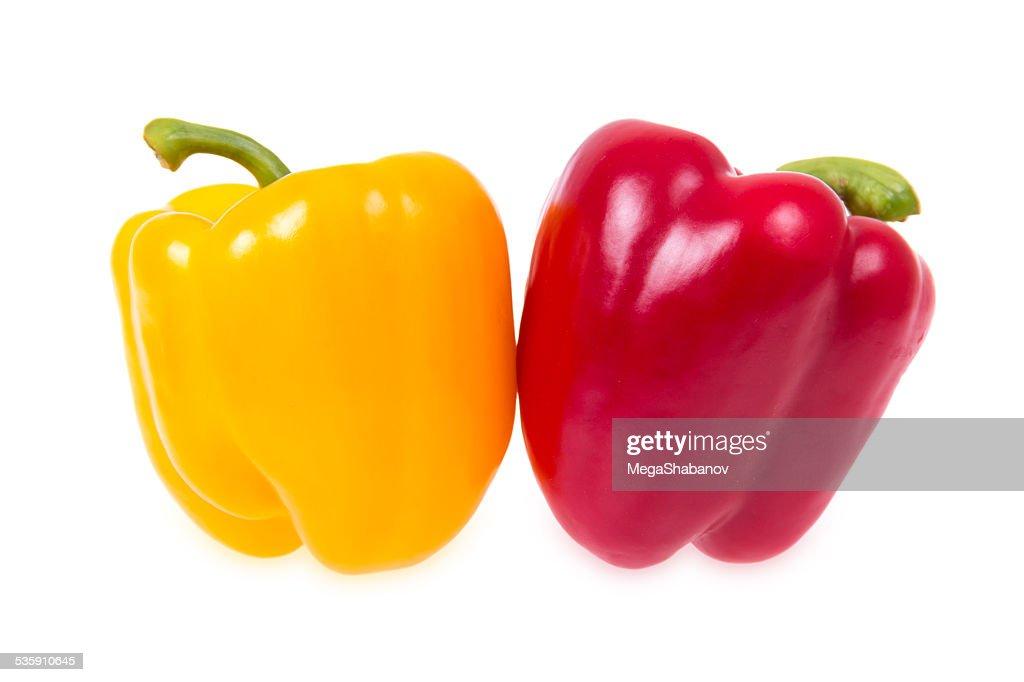 Pimientos rojo y amarillo : Foto de stock