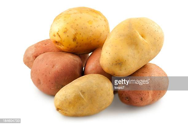 red and yellow potatos