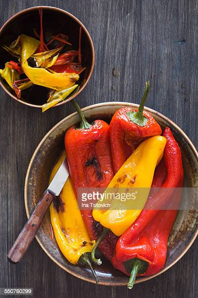 Red and Yellow Roasted Peppers
