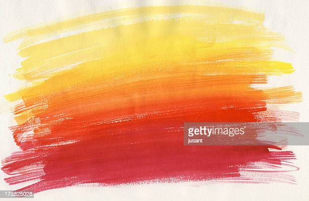 Red and yellow watercolor painting