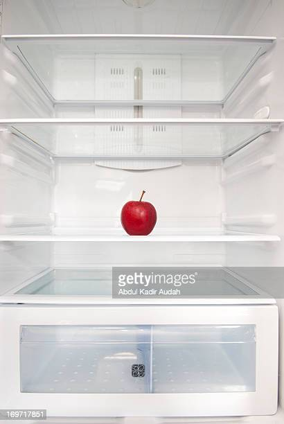 Red apple in empty fridge - part two
