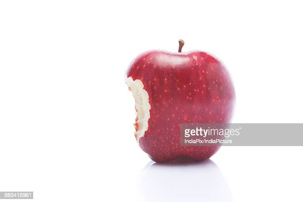 Red apple with bite mark
