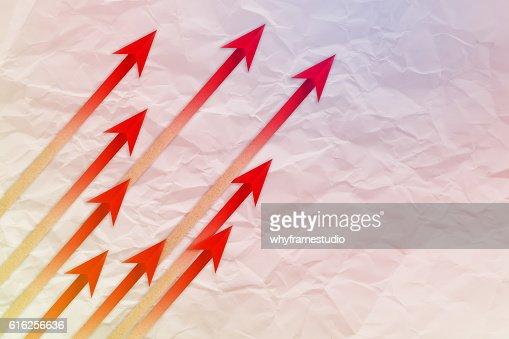 Red arrow leader  Business concept. Red arrow leader  Business c : Foto de stock