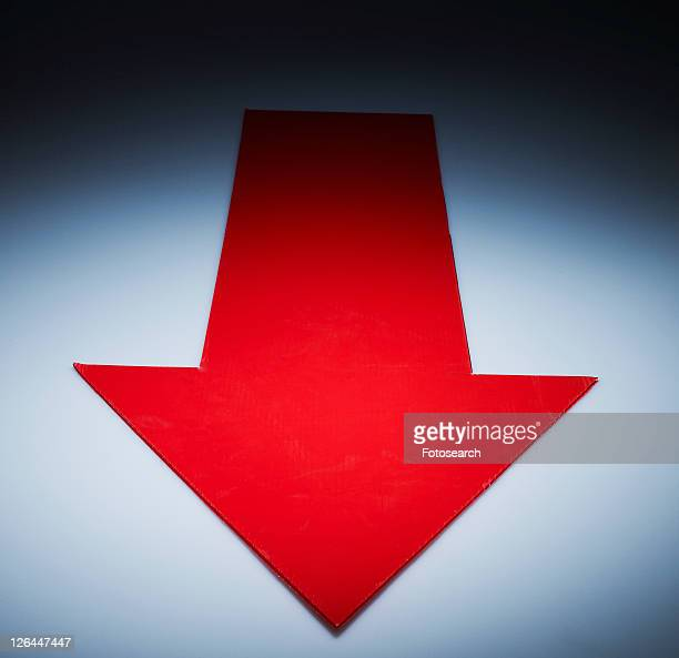 Red Arrow Pointing Downwards