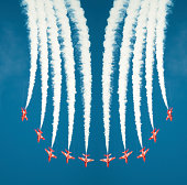 Red Arrows Symmetry Burst