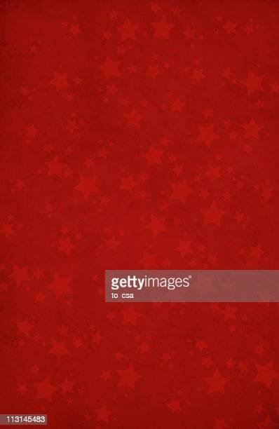 Red background with star shapes XXL