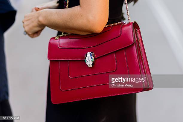 A red bag outside Misha Collection at MercedesBenz Fashion Week Resort 17 Collections at Carriageworks on May 16 2016 in Sydney Australia
