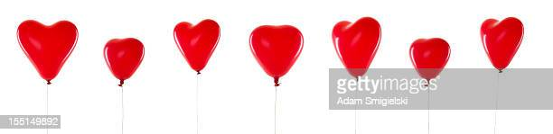 red balloons - hearts