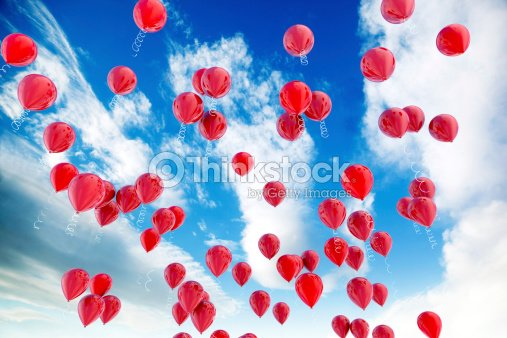Red balloons : Stock Photo