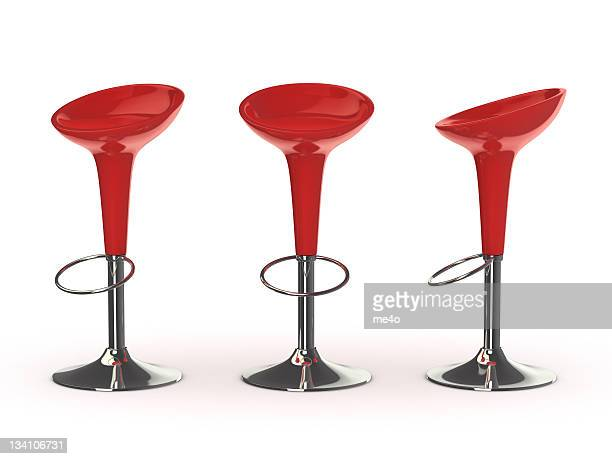 red bar chair
