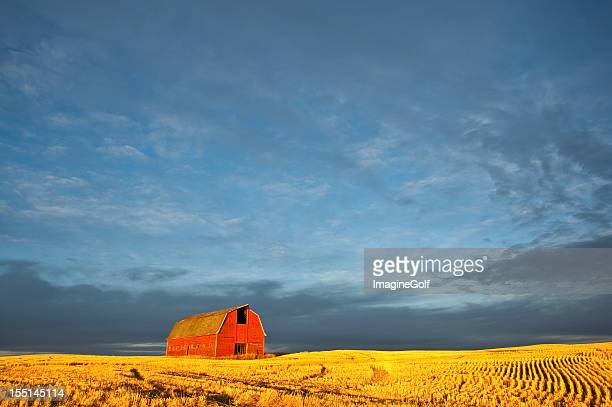 Red Barn on the Plains