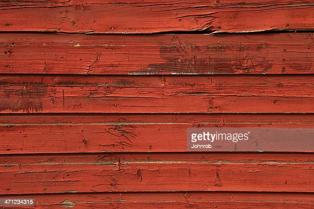 Red barn siding horizontal background with rough texture