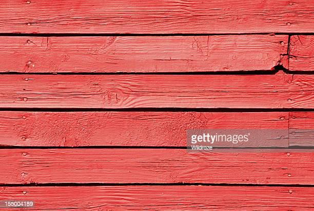 Red barn wood planks