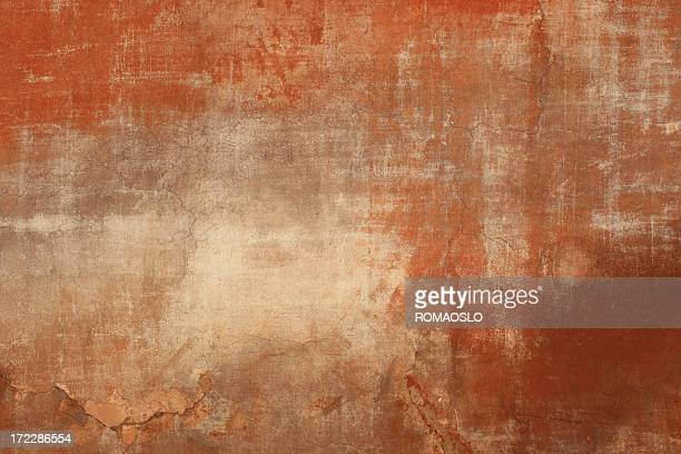 Red beige Roman grunge wall texture, Rome Italy