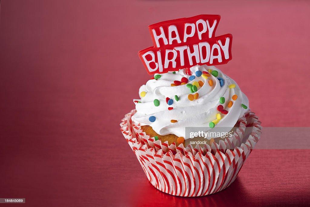 Red Birthday Cupcake