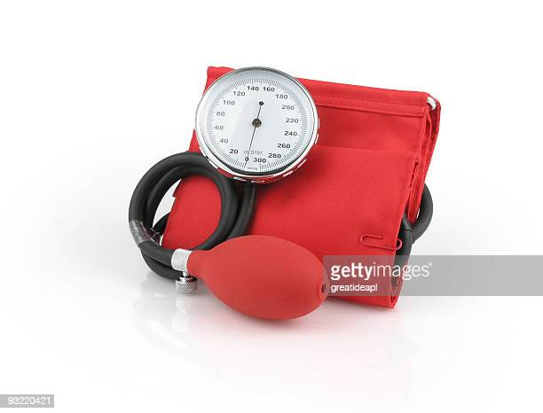 Red Blood Pressure Gauge