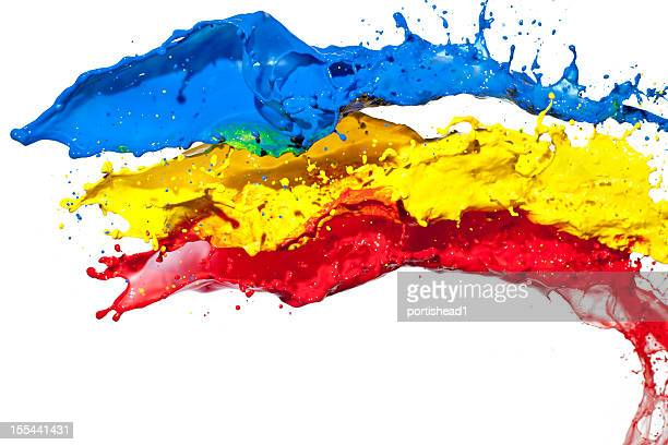 A red blue and yellow splash image