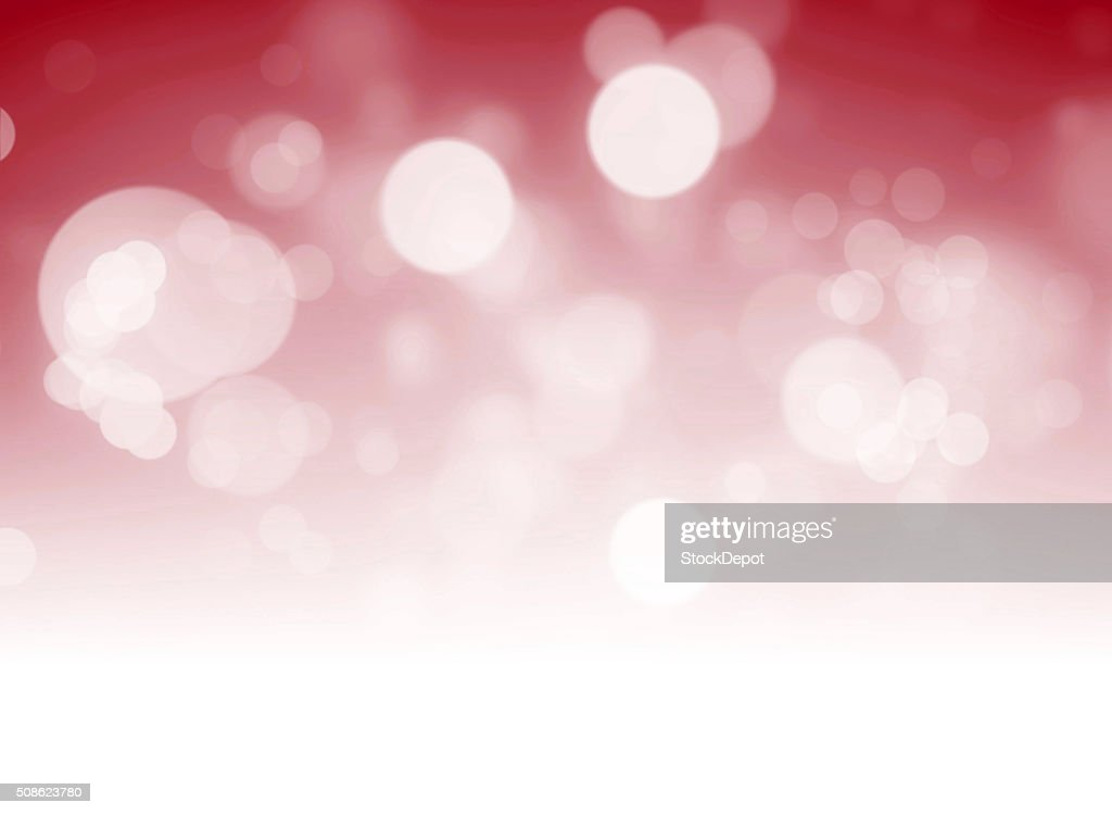 Red Bokeh Lights on White Background : Stock Photo