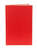 Red Book Cover with Copy Space