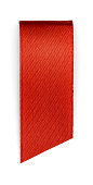 Red bookmark isolated on white background