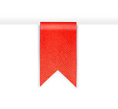 Red bookmark ribbon