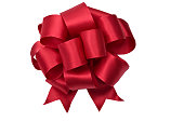Red Bow (CLIPPING PATH) XL