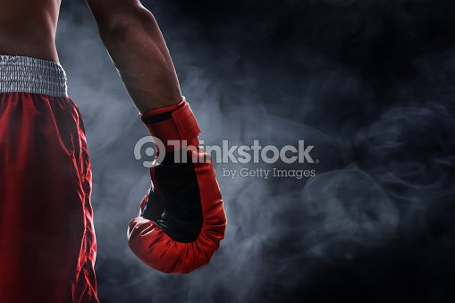 Red boxing glove : Stock Photo