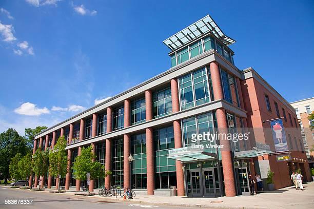 Red brick modern public library, Princeton, NJ