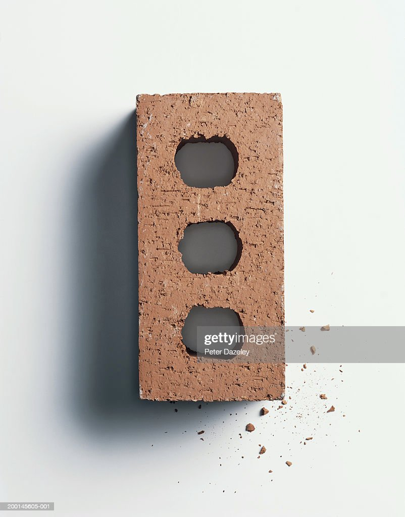 Red brick, overhead view : Stock Photo