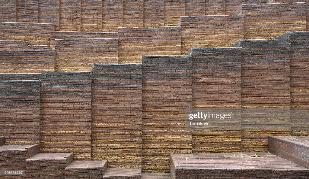 red brick wall pattern texture : Stock Photo