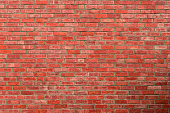 Red brick wall texture background. Background for text. Exterior architecture concept.