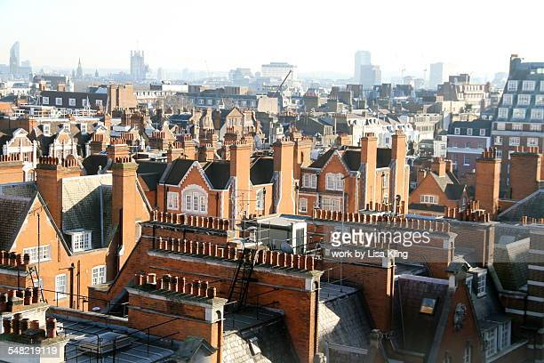 Red bricks, alate roofs and chimneys, Mayfair