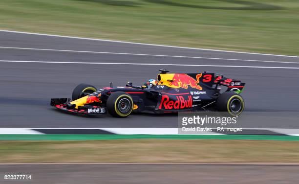 Red Bull Daniel Ricciardo during second practice of the 2017 British Grand Prix at Silverstone Circuit Towcester