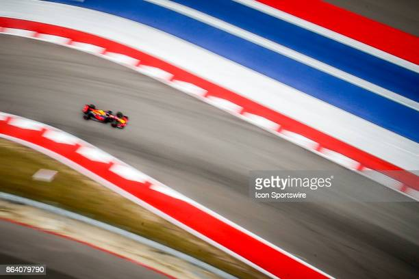 Red Bull driver Max Verstappen of Netherlands drives towards turn 15 during morning practice for the Formula 1 United States Grand Prix on October 20...