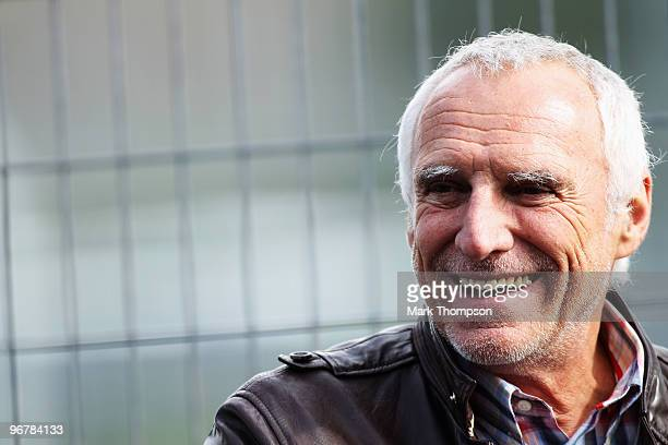 Red Bull Racing and Scuderia Toro Rosso owner Dietrich Mateschitz is seen in the pitlane during winter testing at the Circuito De Jerez on February...