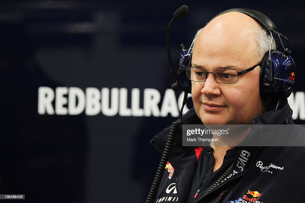 Red Bull Racing Chief Designer Rob Marshall is seen during Formula One winter testing at the Circuito de Jerez on February 7, 2012 in Jerez de la Frontera, Spain.